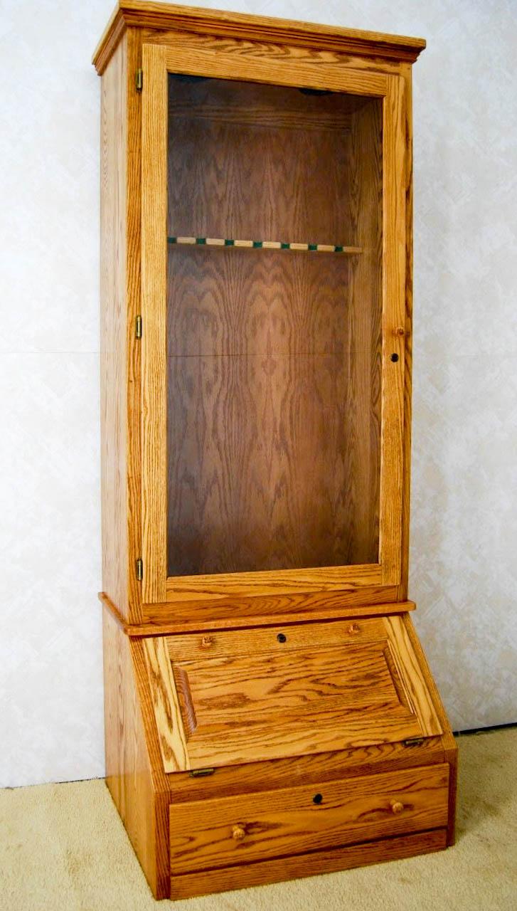 Oak Gun Cabinet De Vries Woodcrafters