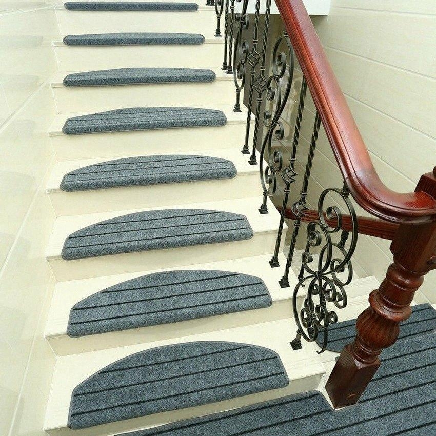 Stair Treads Pad Self Adhesive Staircase Mats Anti Skid Step Rugs | Padded Carpet Stair Treads | Stair Risers | Adhesive Padding | Bullnose Padded | Staircase Makeover | Flooring