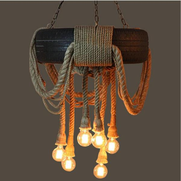 pendant lighting with rope # 50