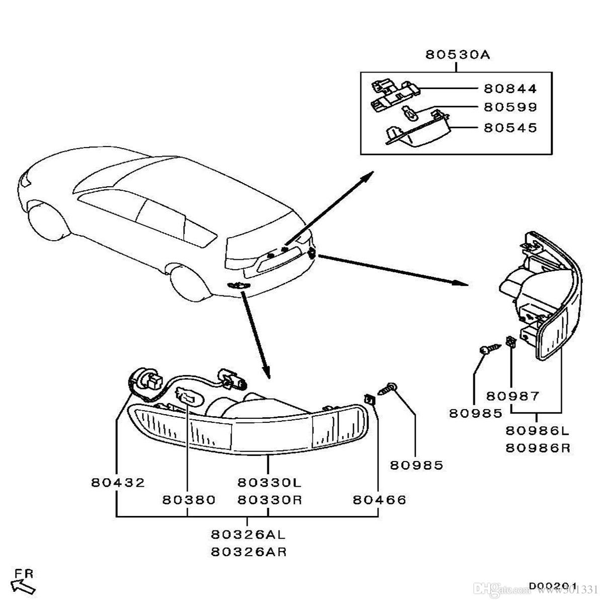 Rear bumper right left tail fog light l fit for mitsubishi outlander 2007 2012 peugeot 4007 2007 2012 citroen c crosser from 301331 45 23 dhgate