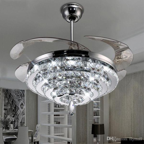 crystal chandelier with fan # 2
