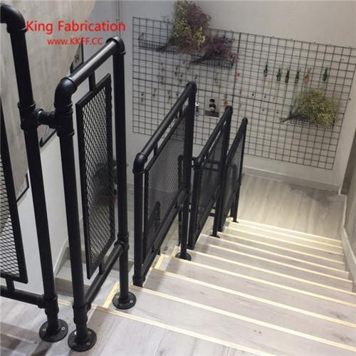 2020 Loft Retro Water Pipe Stair Railings Attic Railing Balcony   Black Pipe Stair Railing   Diy   90 Degree Stair   Banister   Outdoor Stair   Stainless Steel