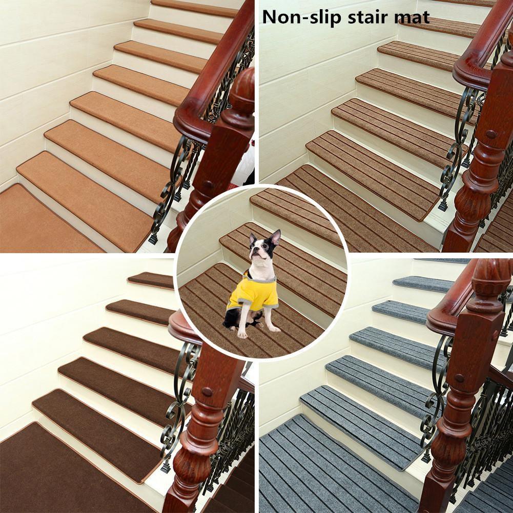 Non Slip Solid Wood Carpet Stair Treads Hard Floor Stair   Solid Oak Stair Treads   Landing   Laminate   Rectangle   Metal Stair   Riser
