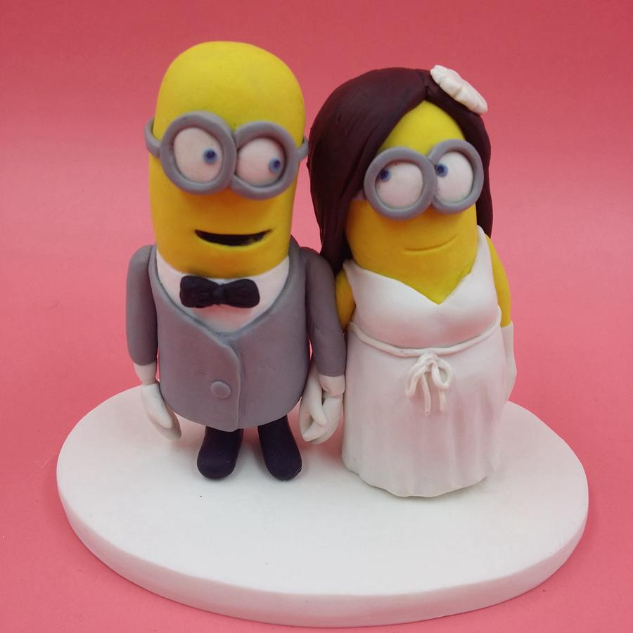 Cheap 8cm Minions Wedding Cake Topper Dispicable Me Mini Mrs   Mrs     Cheap 8cm Minions Wedding Cake Topper Dispicable Me Mini Mrs   Mrs Cake  Topper Figurine Sculpture Children Party Cake Toppers Wedding Decor  Vancouver