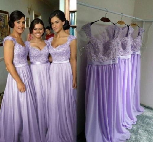 Hot Selling Purple Lilac Lavender Bridesmaid Dresses Lace Chiffon     Hot Selling Purple Lilac Lavender Bridesmaid Dresses Lace Chiffon Maid Of  Honor Beach Wedding Party Dresses Plus Size Evening Dresses Casual  Bridesmaid