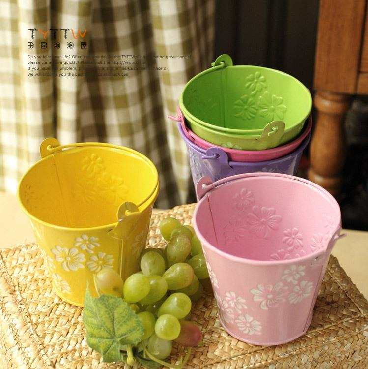 Small Tin Bucket Garden Home Decor with Hanging Handle Practical     Small Tin Bucket Garden Home Decor with Hanging Handle Practical Decorations  Adorn Specials Online with  49 27 Piece on Zhoudan5245 s Store   DHgate com
