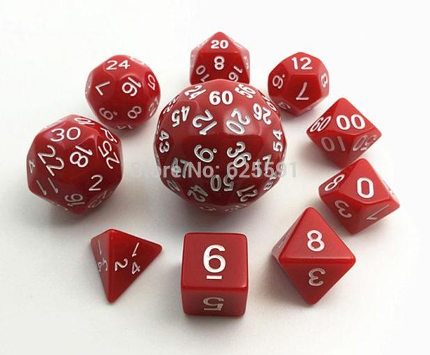 Red Dice Set T G High Quality D4 d6 d8 2xd10 d12  d20 d24 d30 d60     Red Dice Set T G High Quality D4 d6 d8 2xd10 d12  d20 d24 d30 d60 Dice Bag  Role Playing Games D d Dice Set Game Dice Dungeons Dragon Online with   8 92 Set
