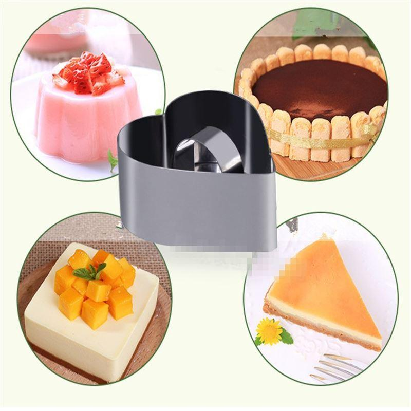2019 Pastry Round Square Heart Forms For Cheese Pan ...