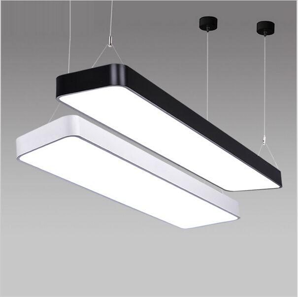 Rectangle Led Pendant Light Aluminum Hanging Lighting