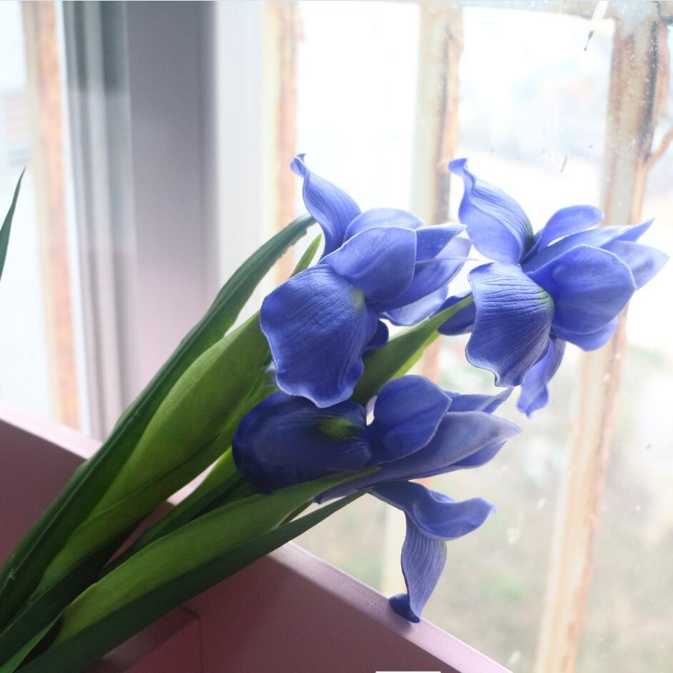 2018 Blue Iris Artificial Flower Real Touch Flower Iris For Home     2018 Blue Iris Artificial Flower Real Touch Flower Iris For Home Wedding  Hotel Decoration Yellow White Purple Blue Iris From Molly100   4 33    Dhgate Com