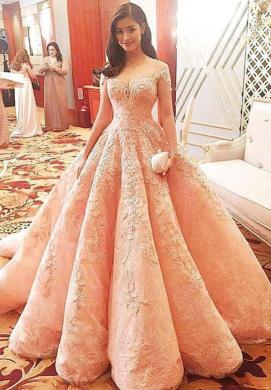 Discount Blush 2018 Wedding Dresses Lace Princess Formal Long Bridal     Discount Blush 2018 Wedding Dresses Lace Princess Formal Long Bridal Gowns  Celebrity Dress Ball Gowns With Sweetheart Neck Cap Sleeves Sheer Back Lon
