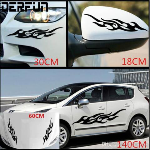 2018 Universal Car Decals Body Side Design Auto Flame Picture Vinyl     2018 Universal Car Decals Body Side Design Auto Flame Picture Vinyl Sticker  Suitable For Body Mirrors Front Etc From Derfun car   2 45   Dhgate Com