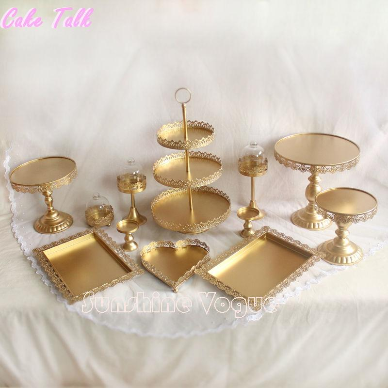 Of Gold Cake Stand Wedding Cupcake Stand Set Glass Dome Crystal     Of Gold Cake Stand Wedding Cupcake Stand Set Glass Dome Crystal Candy Bar  Decoration Cake Tools Bakeware Set From Topprettymall   281 41   Dhgate Com
