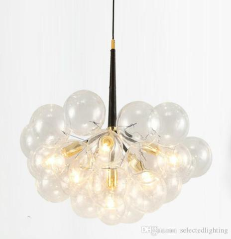 Modern Bubble Glass Pendant Lights Fixture Home Deco Glass Ball     Modern Bubble Glass Pendant Lights Fixture Home Deco Glass Ball Pendant Lamp  Diy E27 Suspension Clear Glass Hanging Lamp Pendant Track Lights Discount