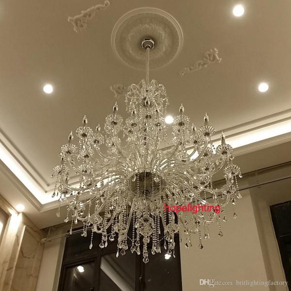 Modern Large Crystal Chandelier For Foyer Big Crystal Chandelier     Modern Large Crystal Chandelier For Foyer Big Crystal Chandelier Church  Hall Led Chandelier Duplex Building Stairacse Crystal Pendant Lamps  Chandeliers