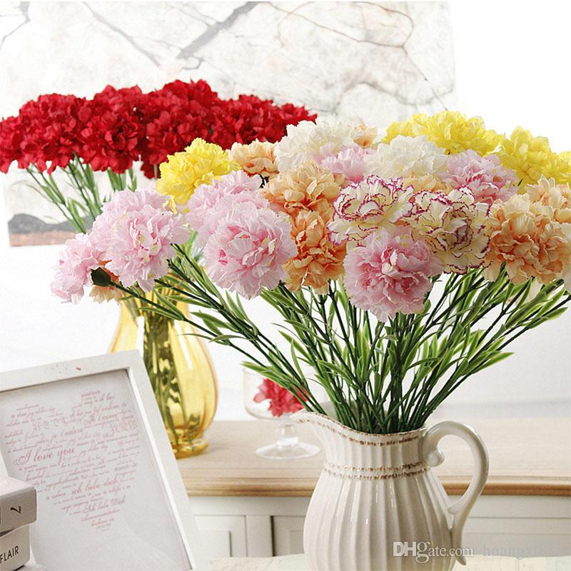 2018 2017 Fresh Artificial Flower Carnation Silk Flower Mother S Day     2018 2017 Fresh Artificial Flower Carnation Silk Flower Mother S Day Flower  Plant Family Decorative From Huangxl881   0 91   Dhgate Com