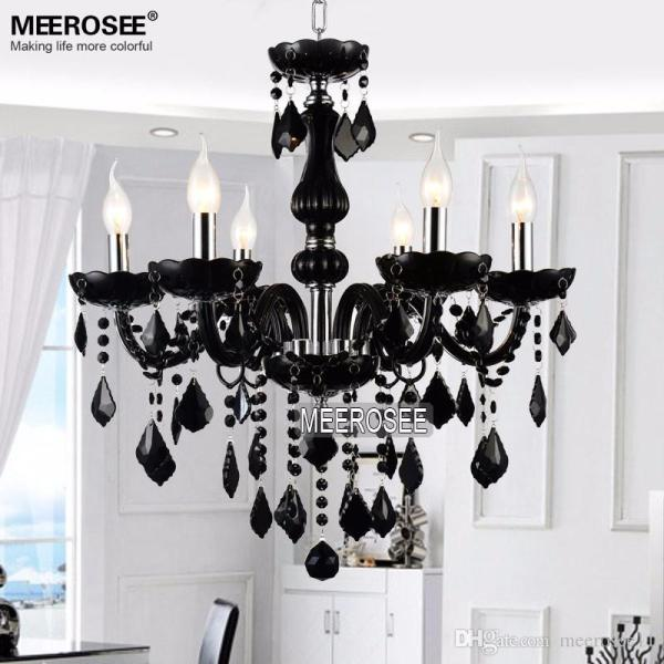 small black crystal chandelier # 5