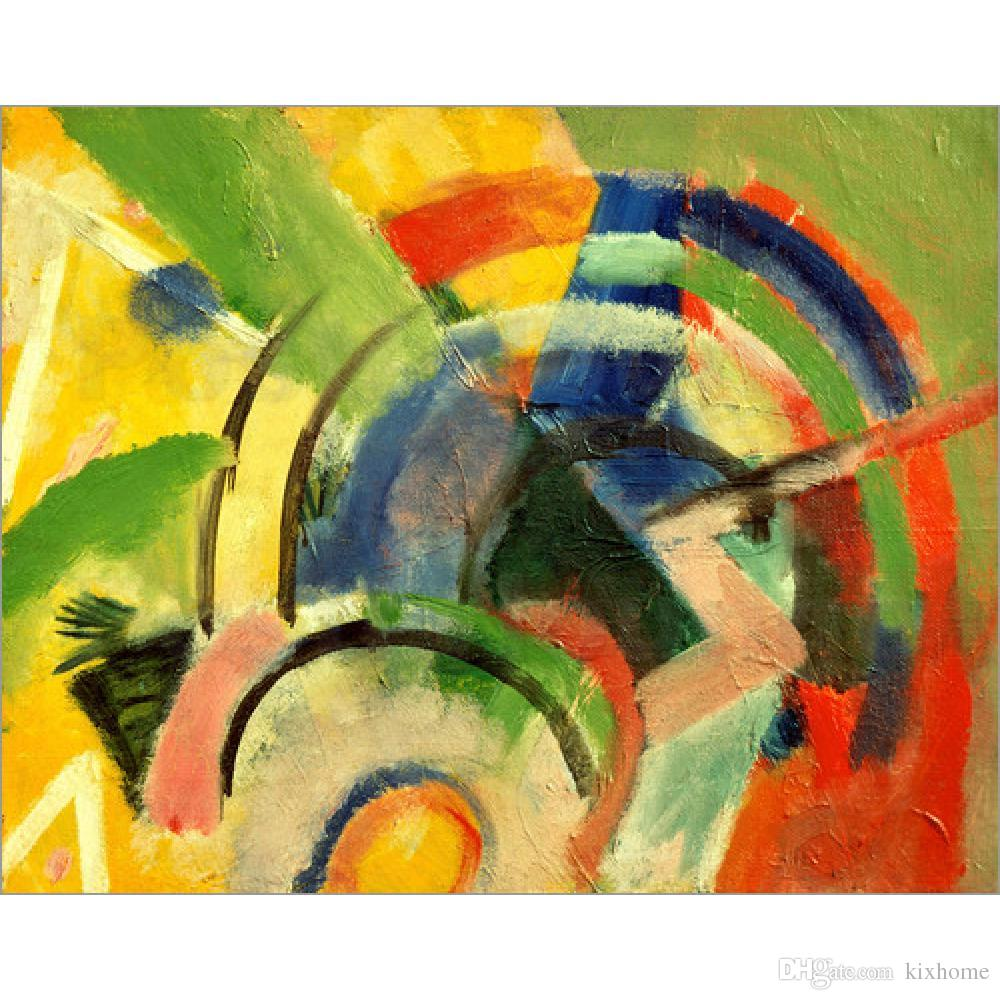 2018 Franz Marc Paintings Small Composition Iv Abstract Modern Art     2018 Franz Marc Paintings Small Composition Iv Abstract Modern Art Canvas  Hand Painted Wall Decor From Kixhome   101 51   Dhgate Com
