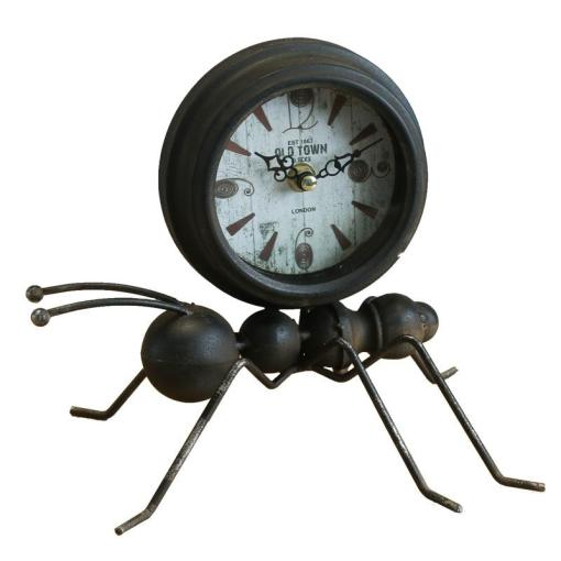 Retro Iron Ants Model Decoration Desk Clock Ornaments Creative Home     Retro Iron Ants Model Decoration Desk Clock Ornaments Creative Home Desktop Table  Clocks Bell Cool Antique Electronic Desk Clock Decorative Desk Clocks