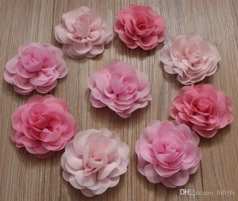 8cm Chic Chiffon Fabric Flowers For Girls Hair Accessories Headband     8cm Chic Chiffon Fabric Flowers For Girls Hair  Accessories Headband Clothing Hair Clip Flowers Diy Craft Supplies Little  Girl Hair Accessories Wholesale