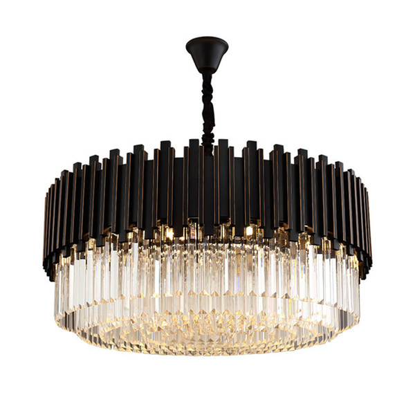 small black crystal chandelier # 43