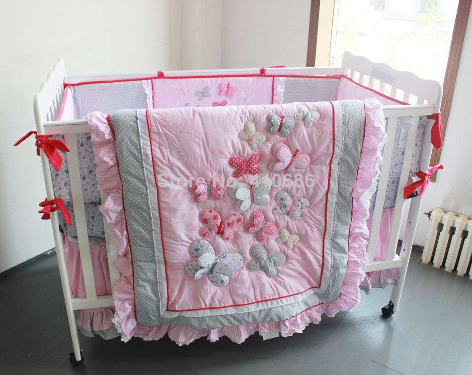 Elegant Princess Crib Bedding Sets Baby Kit Cot Set 3d