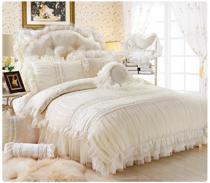 Wholesale Fancy Pure White Lace Princess 100 Cotton