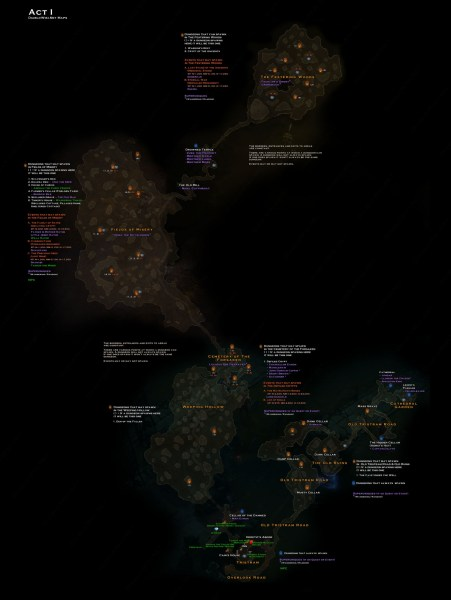 Act 1 map   Diablo Wiki Act 1 map jpg
