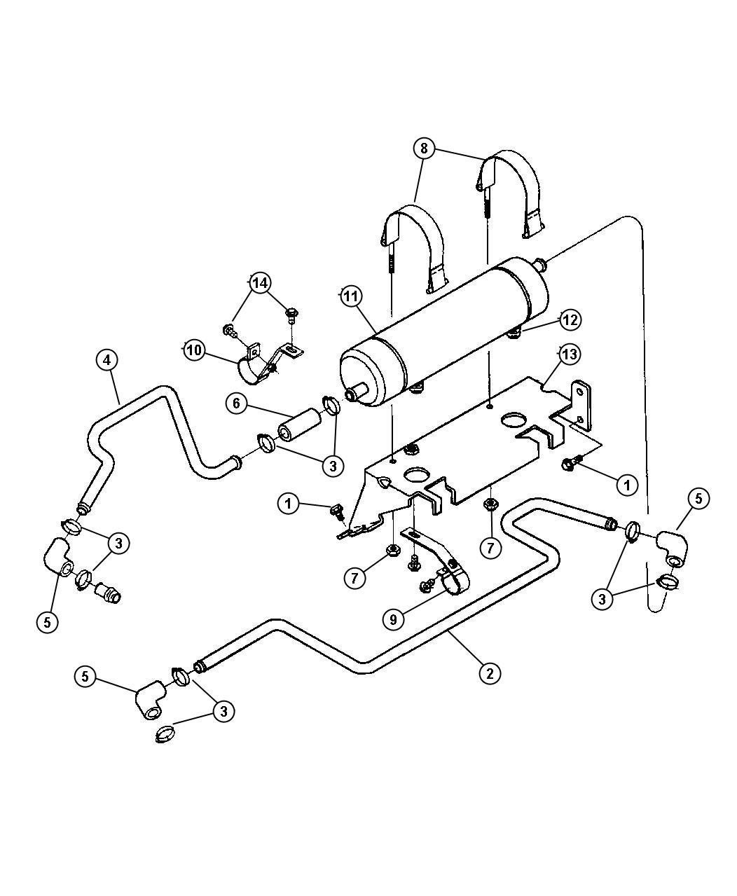 7 heater hoses and reservoir tank oil cooler torque converter