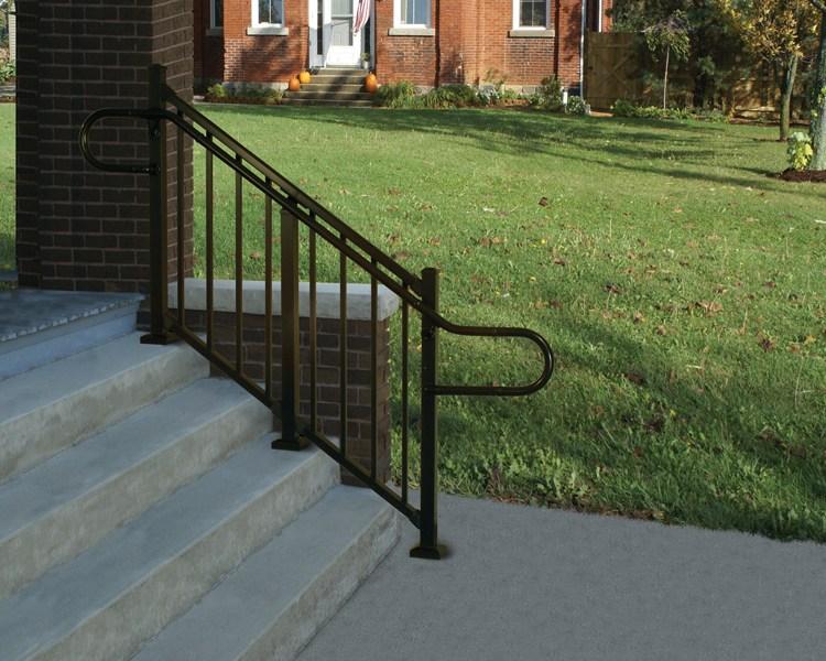 Westbury® Aluminum Ada Continuous Handrail Digger Specialties | Ada Compliant Exterior Handrails | Deck Railing | Hand Rail | Cable Railing | Wheelchair Ramp | Stair Railing