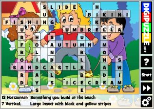 Summer games   Digipuzzle net Summer Crossword Puzzles