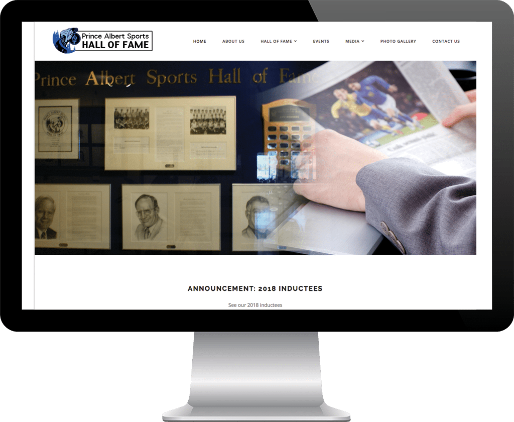 Prince Albert Sports Hall of Fame / Website Design Portfolio