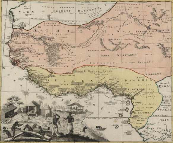 Digital History 1743 Map showing Guinea