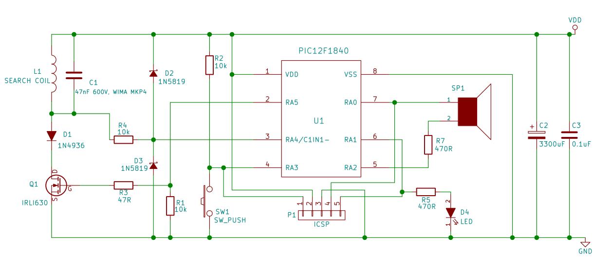 Astounding Homemade Metal Detector Schematic Diagram Wiring Cloud Hisredienstapotheekhoekschewaardnl