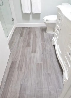 41 Cool Bathroom Floor Tiles Ideas You Should Try   DigsDigs faux wood bathroom tiles