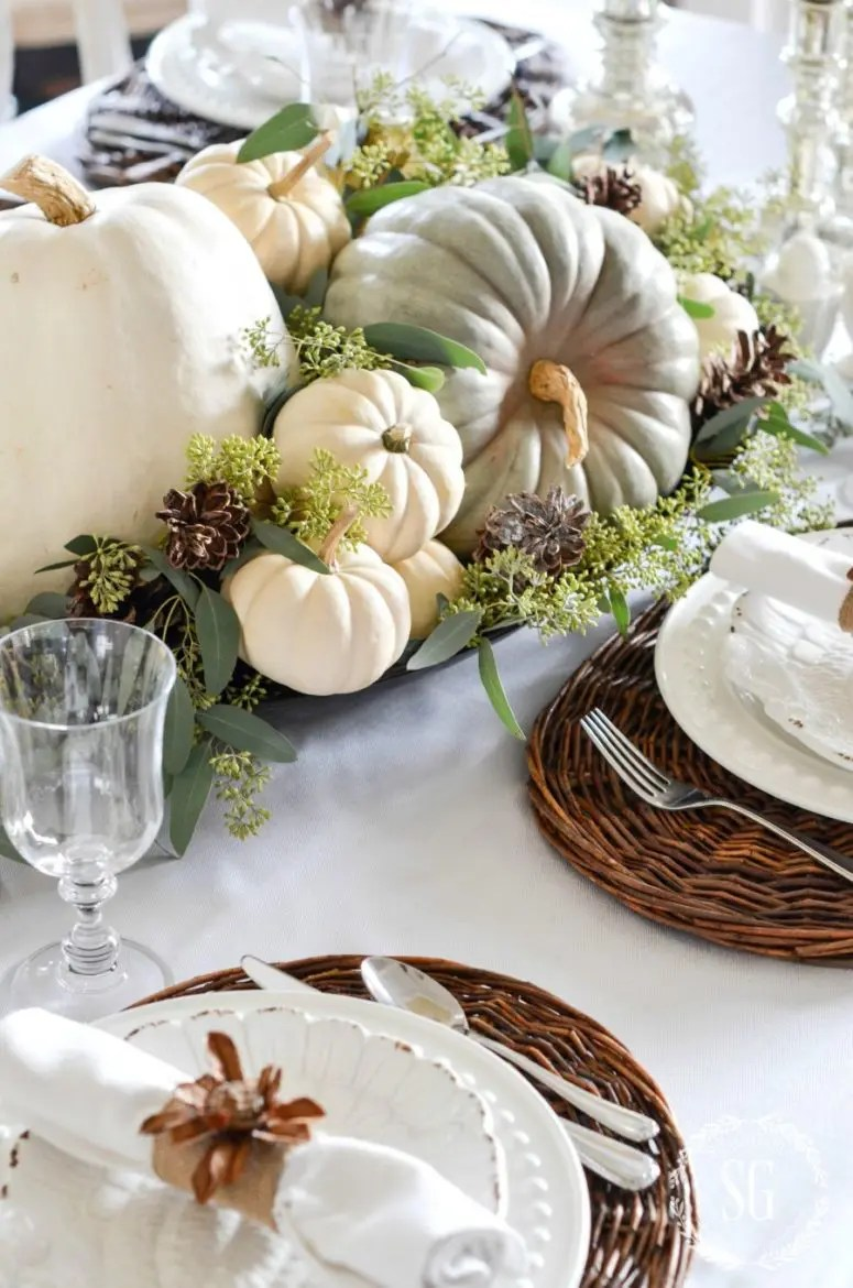 Decoration Ideas Thanksgiving Table
