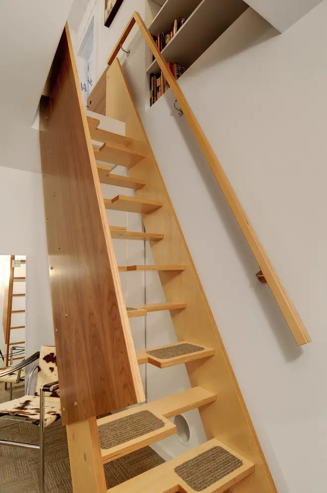 35 Really Cool Space Saving Staircase Designs Digsdigs | Clever Stairs For Small Spaces | Staircase | Upstairs Small Space | Front Window | Small Area | Mini