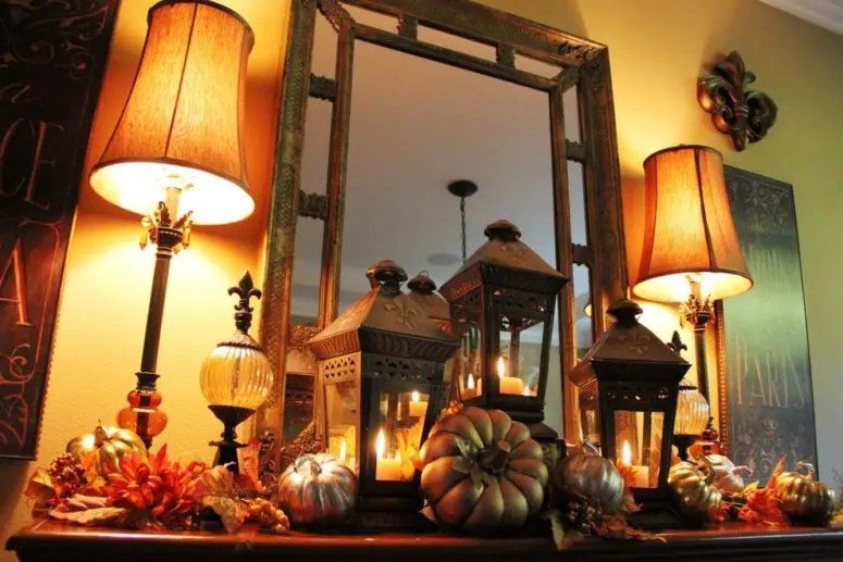 59 Fall Lanterns For Outdoor And Indoor D    cor   DigsDigs If you re searching for ideas to decorate your mantel for fall then think  about