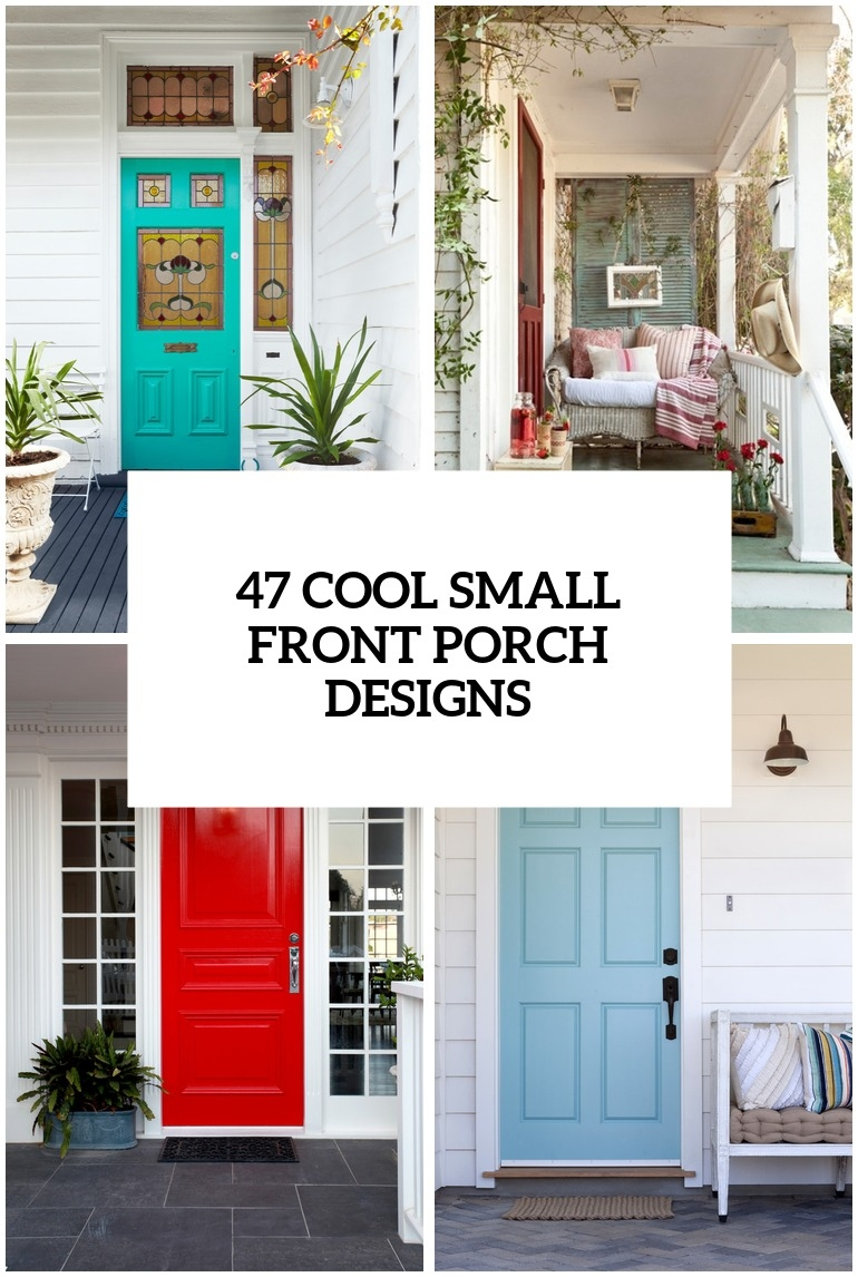 47 Cool Small Front Porch Design Ideas Digsdigs   Outside Stair Design For Small House   2 Story   Cement Stair   House Chennai   Residential   Stair Room