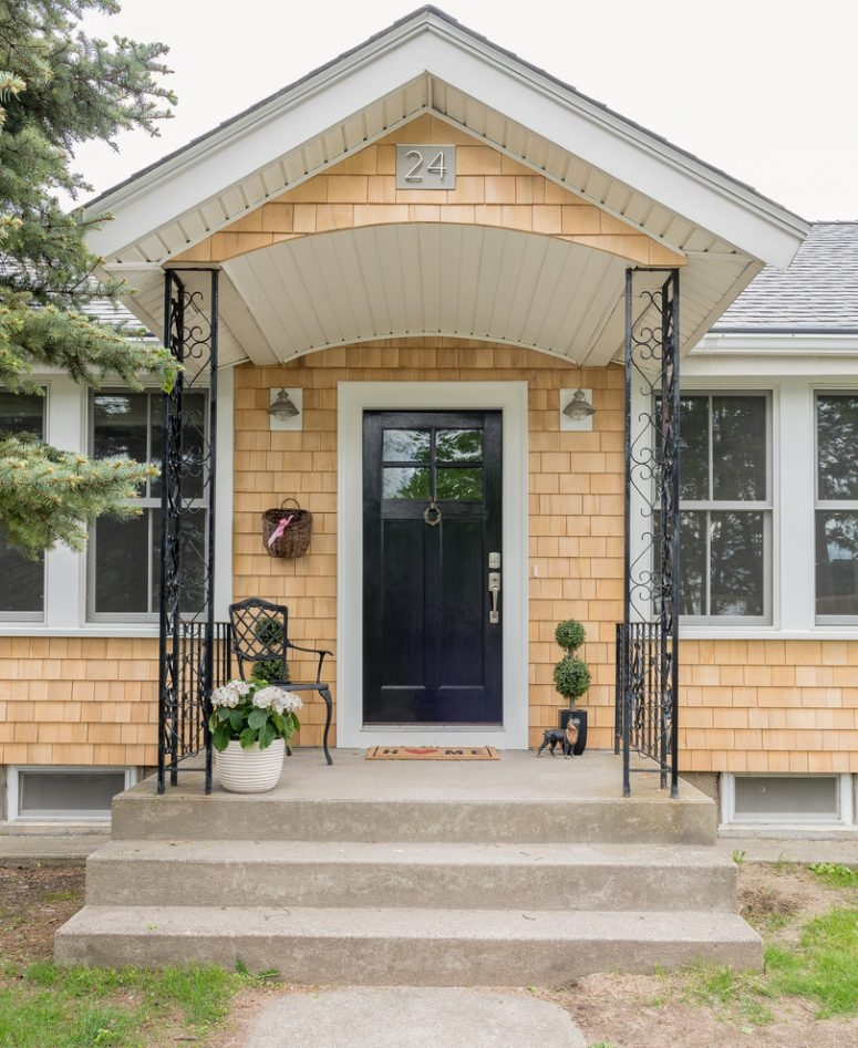 47 Cool Small Front Porch Design Ideas Digsdigs   Exterior Stairs Designs Of Indian Houses   Railing   Outdoor   Residential House   Metal   Modern