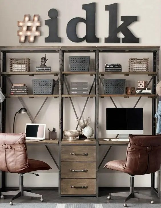 Narrow Desk Long Office