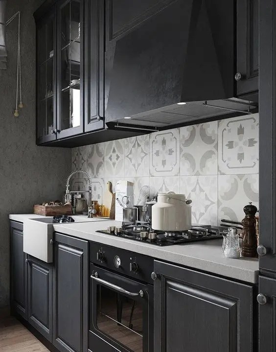 White White Kitchen Backsplash