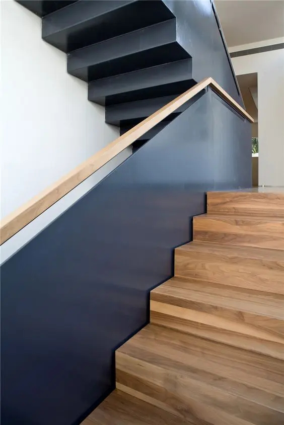 30 Stylish Staircase Handrail Ideas To Get Inspired Digsdigs   Unique Handrails For Stairs   Residential Staircase   Hand Rail   Simple   Inside   Interior