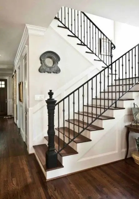 33 Wrought Iron Railing Ideas For Indoors And Outdoors   Rod Iron Railing For Steps   Custom   Contemporary   Classic   Raw Iron   Rustic