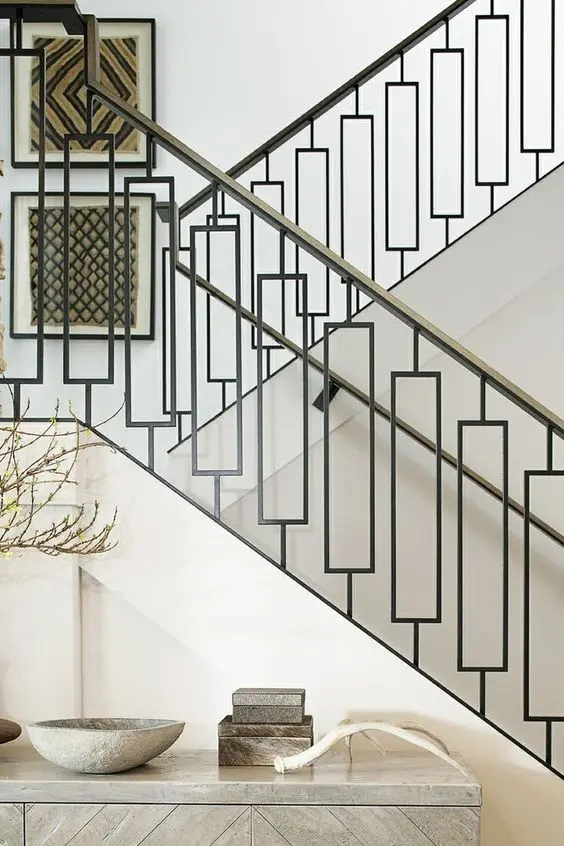 33 Wrought Iron Railing Ideas For Indoors And Outdoors   Rod Iron Interior Railings   Iron Work   White   Steel   Route   Staircase