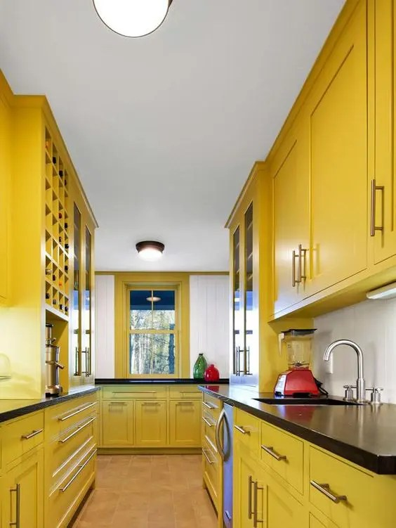 Yellow Marble Kitchen Countertops