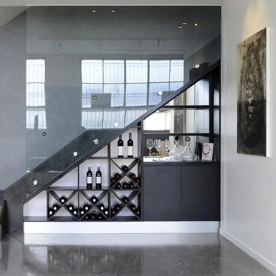 25 Under Stairs Wine Cellars And Wine Storage Spaces Digsdigs   Bar Under The Stairs Design   Living Room   Stair Storage   Interior Design   Wine Cellar   Storage