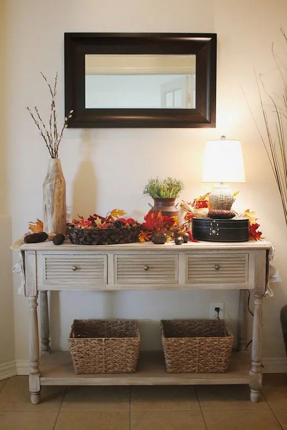 25 Ideas To Style Your Console Table For Fall Digsdigs