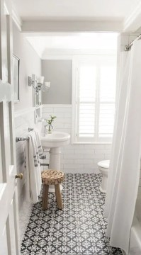 41 Cool Bathroom Floor Tiles Ideas You Should Try   DigsDigs mosaic black and white