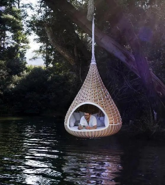 Wooden Hanging Swing
